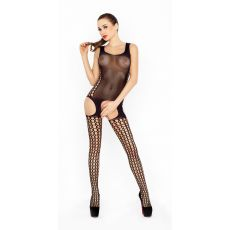 Bodystocking Black With Suspenders Effect