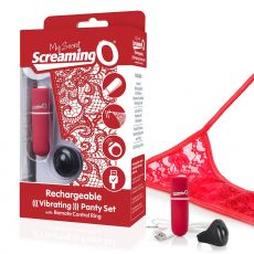 My Secret Charged Remote Control Wearable Panty Vibrator Red