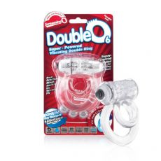 DoubleO 6 Vibrating Cock Penis Ring Clear from Fleshlight
