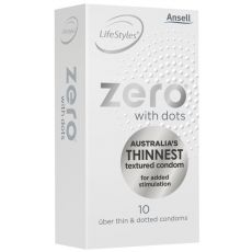 Ansell Lifestyles ZERO DOTTED Condoms 10's