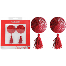 OUCH Nipple Tassels - Round (Red)