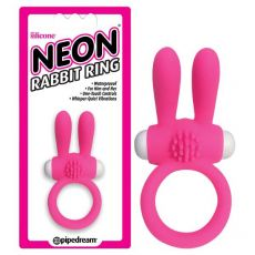 PIPEDREAM  Neon Rabbit Cock Ring Pink